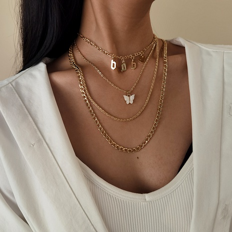 exaggerated multi-layer cross chain necklace NHXR290755's discount tags