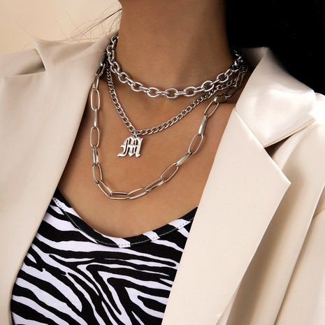 multi-layer air current Su cross chain necklace NHXR290762's discount tags