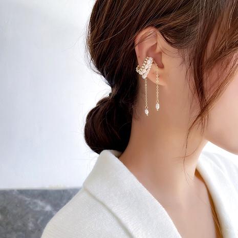 pearl tassel ear clip  NHMS290797's discount tags