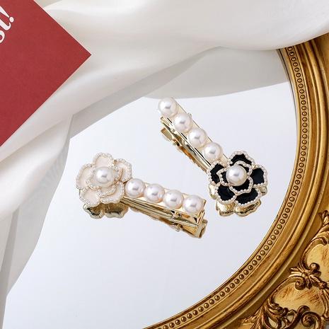 Retro camellia pearl hair clip NHMS290808's discount tags