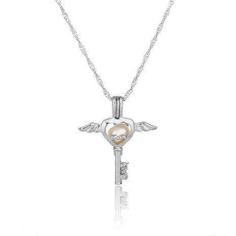 pearl key pendant necklace  NHAN290863's discount tags