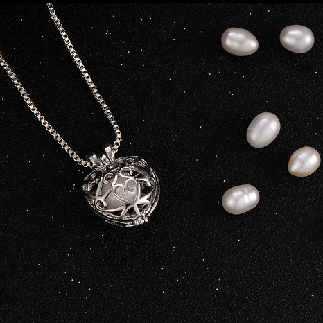 oyster pearl diy love pendant necklace  NHAN290866's discount tags