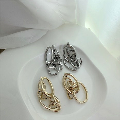 metal circles tassel earrings NHYQ290880's discount tags
