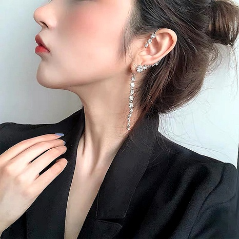 diamond-studded zircon long earrings NHYQ290887's discount tags