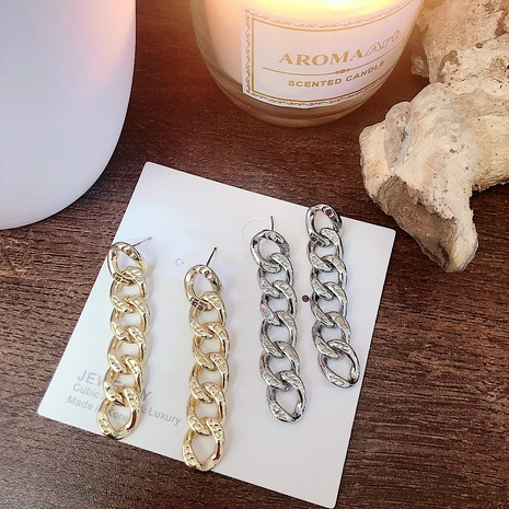retro long thick chain earrings  NHYQ290889's discount tags