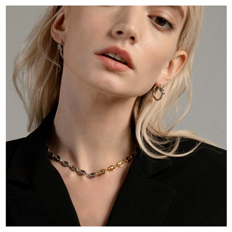 retro alloy mixed color chain Chain necklace  NHCT290915's discount tags