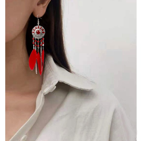 feather sunflower earrings  NHCT290928's discount tags