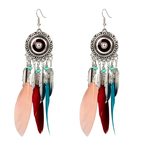 Bohemian alloy feather earrings  NHCT290932's discount tags