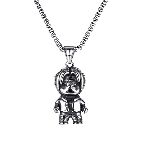 cartoon character titanium steel necklace NHOP290937's discount tags