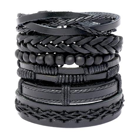 Vintage handgewebtes Leder Lederarmband NHPK290964's discount tags