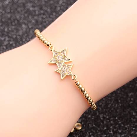 micro-inlaid zircon five-star  bracelet  NHYL290999's discount tags