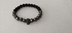 Bracelet en perles avec couronne en pierre givre NHYL291001