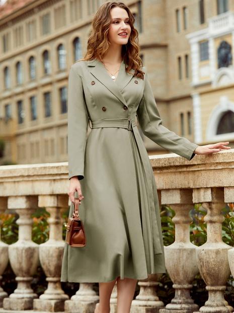 mode nouveau style simple élégant long manteau NHDE301687's discount tags