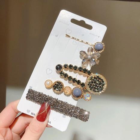 ensemble de pinces à cheveux en métal strass NHWF301822's discount tags