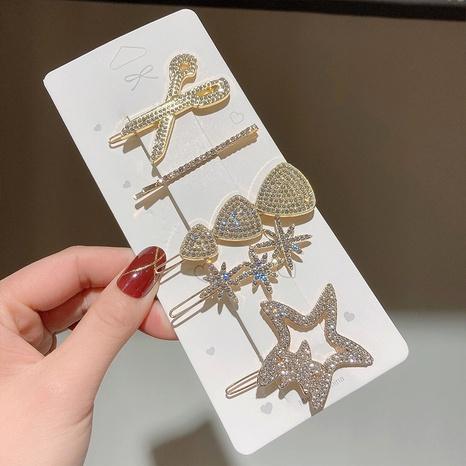 ensemble de 5 pinces à cheveux étoile à cinq branches NHWF301825's discount tags