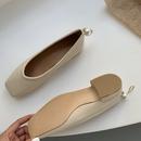 zapatos de perlas de tacn grueso con punta cuadrada de moda NHHU301985