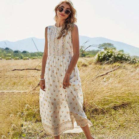 robe fleurie sans manches NHDF302100's discount tags
