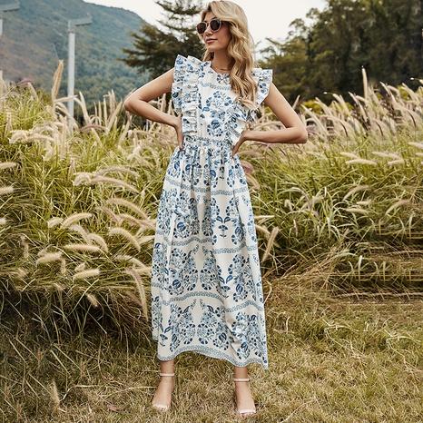 nouvelle robe imprimée bohème NHDF302115's discount tags