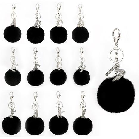 26 lettres anglaises incrustées de strass porte-clés noir NHAP302202's discount tags