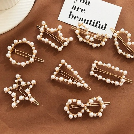 fashion elegant pearl hairpin  NHGE302234's discount tags
