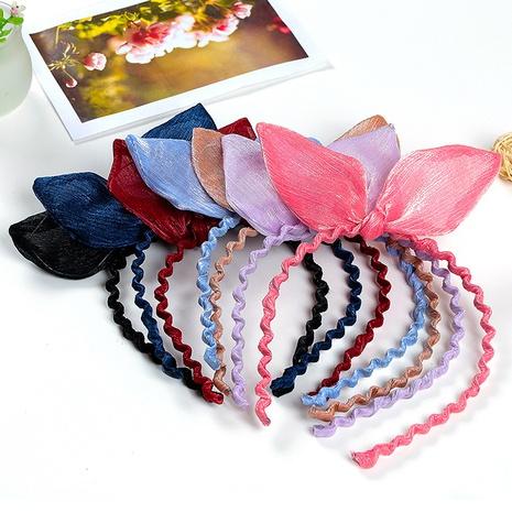 Retro colorful fabric rabbit ears headband  NHGE302240's discount tags
