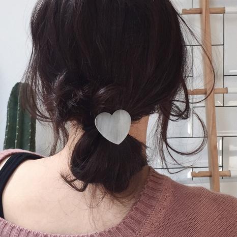 Korea brushed metal love hair ring NHGE302248's discount tags