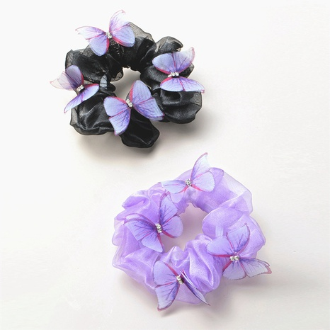 Retro fashion butterfly hair scrunchies  NHGE302255's discount tags