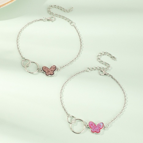 children's fashionable butterfly anklets set NHNU302263's discount tags