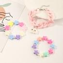 nueva pulsera de flores de estrella de cinco puntas de acrlico con colgante de arcoris para nios NHNU302265