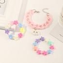 nouveau pendentif arcenciel pour enfants bracelet en acrylique toile  cinq branches NHNU302265