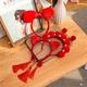 Chinese style fashion tassel headband NHCQ302267