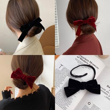 Korea new velvet bow tie hair ring NHCQ302268's discount tags