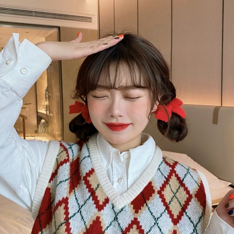 soft cute bow knot hair rope NHCQ302271's discount tags