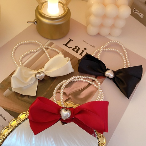 pearl bow hair rope  NHCQ302273's discount tags
