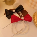 pearl bow hair rope  NHCQ302273