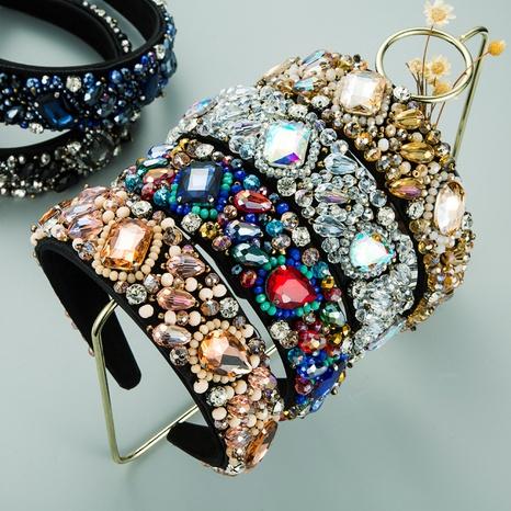 New geometric super flashing glass diamond crystal fabric headband  NHLN302301's discount tags