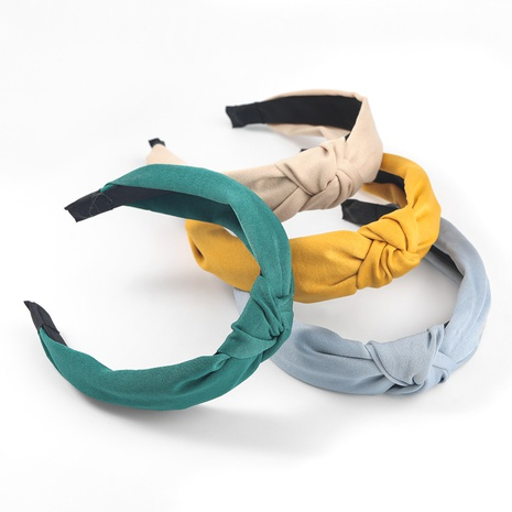 Korea fashion solid color fabric headband NHJE302319's discount tags
