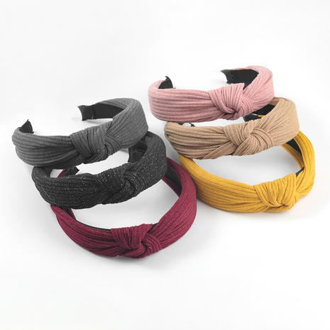 Fashion simple Korean pure color cotton fabric headband  NHJE302324's discount tags
