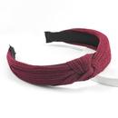 Fashion simple Korean pure color cotton fabric headband  NHJE302324