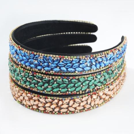 Fashion headwear flannel diamond-studded acrylic full diamond headband NHJE302327's discount tags