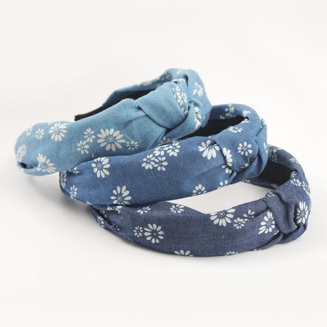 white daisy printed fabric korean headband  NHJE302332's discount tags