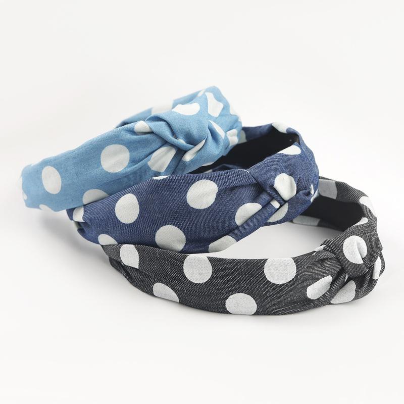 Fashion korean polka dot fabric headband NHJE302333