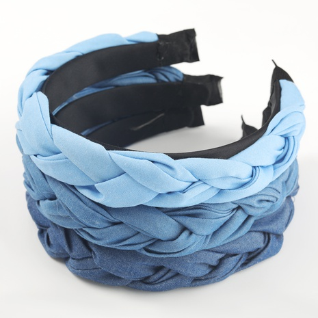 fashion solid color fabric twist braided hair band  NHJE302335's discount tags