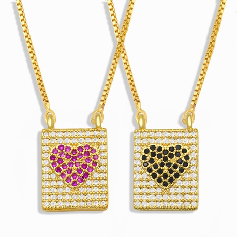 diamond-studded heart-shaped pendant necklace  NHAS302347's discount tags
