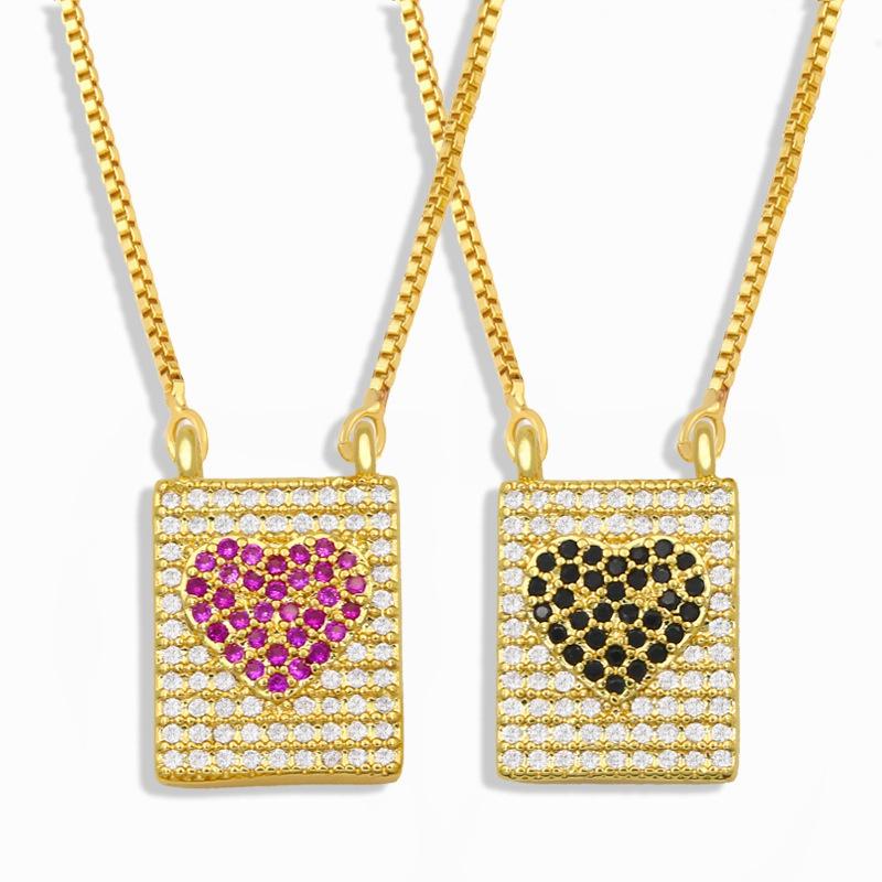 collier  pendentif en forme de cur serti de diamants NHAS302347