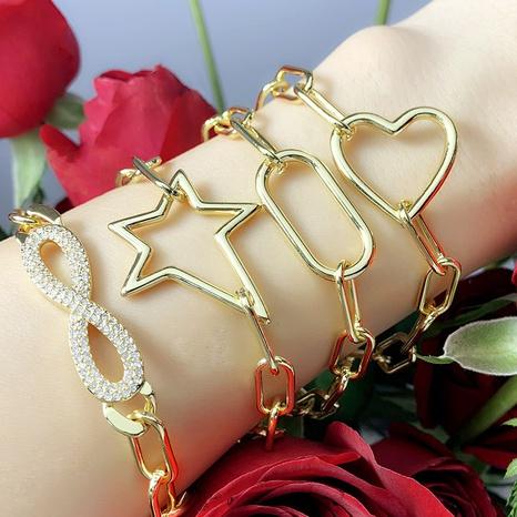 hip hop simple thick bracelet NHAS302349's discount tags