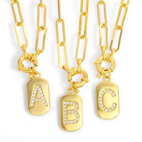 hip-hop retro 26 letters pendant chain NHAS302351's discount tags