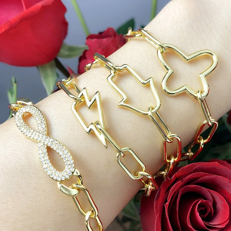 retro butterfly diamond bracelet  NHAS302353's discount tags
