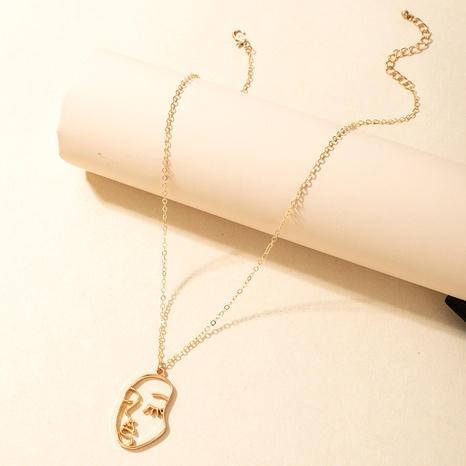 goldenes Gesicht Anhänger Halskette NHGY302369's discount tags