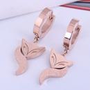 Boucles d39oreilles de renard en acier titane concis concis de mode corenne NHSC303287